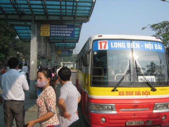 Xe bus 17 Long Biên đi Sân Bay Nội Bài-Taxi Nội Bài